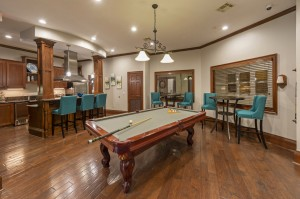 One Bedroom Apartments for Rent in Northwest Houston, TX - Clubhouse Pool Table & Kitchen Area